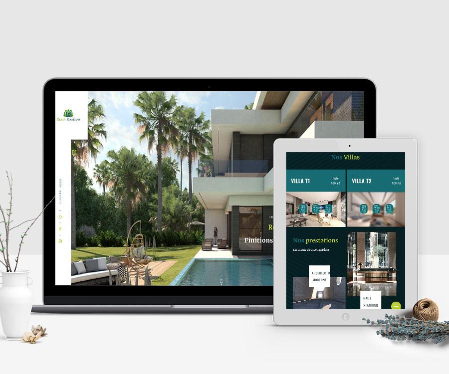 Site web Green Gardens