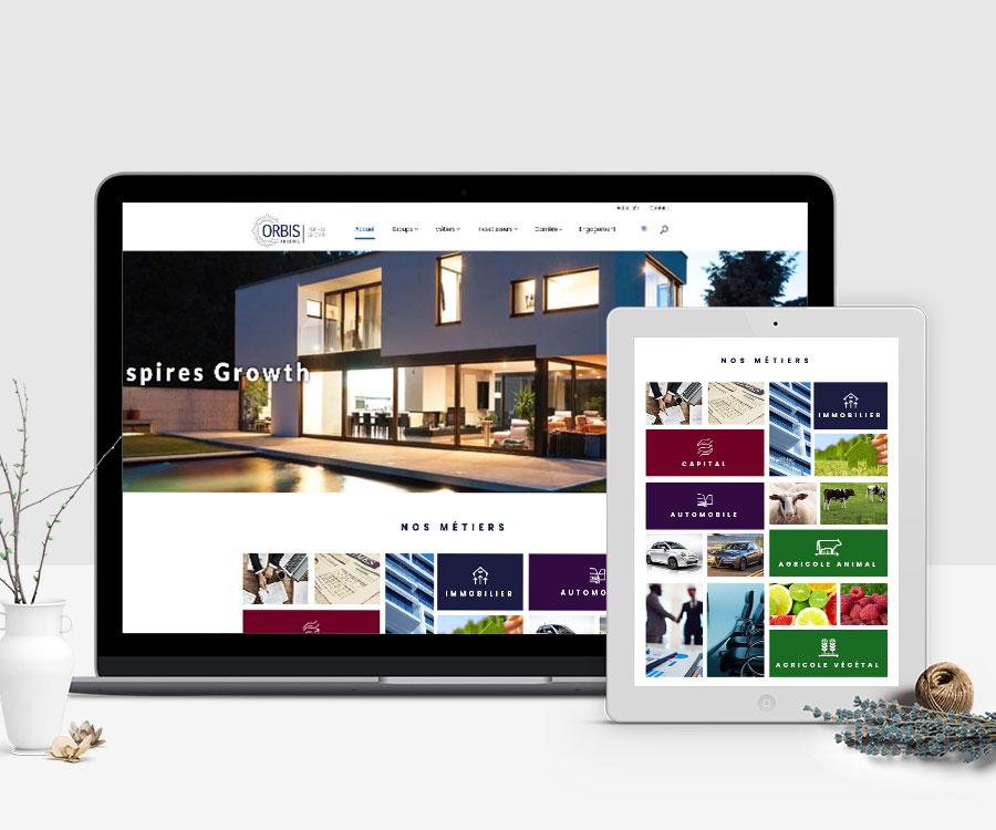 Site web Orbis Holding